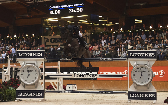Longines Show Jumping Event: Carlos Enrique Lopez Lizarazo and Admara 2 galloped to victory at the Longines FEI World Cup™ Jumping in La Coruña  2