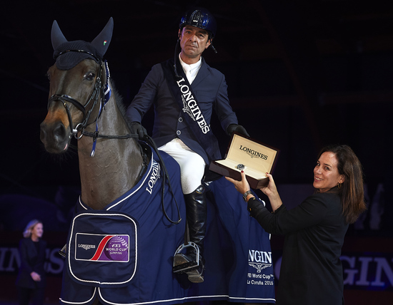 Longines Show Jumping Event: Carlos Enrique Lopez Lizarazo and Admara 2 galloped to victory at the Longines FEI World Cup™ Jumping in La Coruña  3