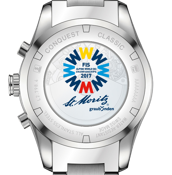 Longines Conquest Classic FIS Alpine World Ski Championships St. Moritz 2017 Watch 3