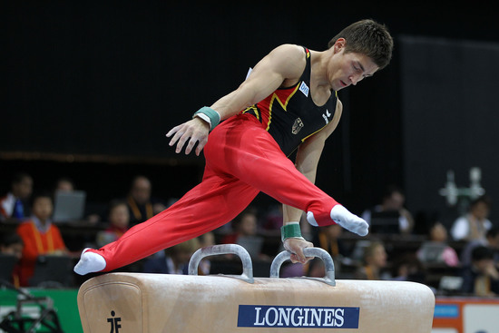 Longines Gymnastics Event: Rie Tanaka and Philipp Boy win the Longines Prize for Elegance 2010 in Rotterdam 2