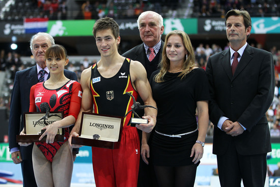 Longines Gymnastics Event: Rie Tanaka and Philipp Boy win the Longines Prize for Elegance 2010 in Rotterdam 3