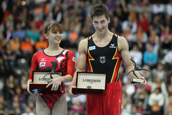 Longines Gymnastics Event: Rie Tanaka and Philipp Boy win the Longines Prize for Elegance 2010 in Rotterdam 4