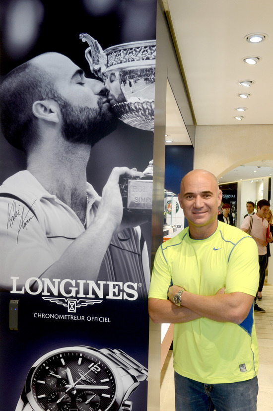 Longines Corporate Event: Longines Ambassador of Elegance Andre Agassi in Paris this weekend 6
