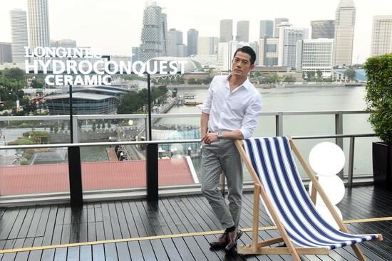 Longines Corporate Event: Longines dives into the HydroConquest universe during a special event in Singapore attended by Aaron Kwok 14
