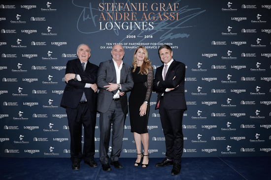 Longines Corporate Event: Longines unveils two exclusive Conquest V.H.P. models to mark ten years of its partnership with  Stefanie Graf and Andre Agassi 7