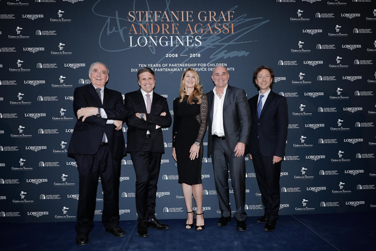 Longines Corporate Event: Longines unveils two exclusive Conquest V.H.P. models to mark ten years of its partnership with  Stefanie Graf and Andre Agassi 9
