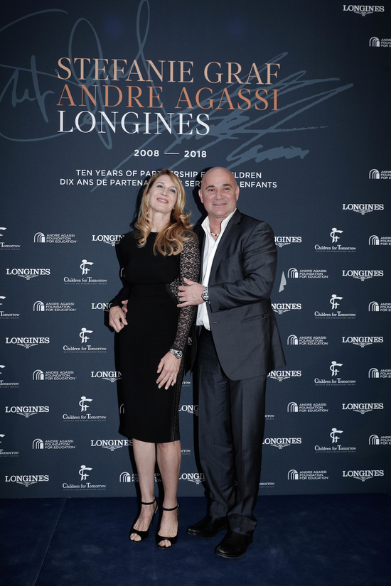 Longines Corporate Event: Longines unveils two exclusive Conquest V.H.P. models to mark ten years of its partnership with  Stefanie Graf and Andre Agassi 4