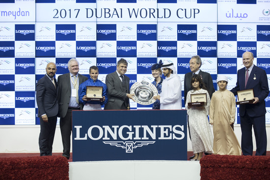 Longines Flat Racing Event: Arrogate, the 2016 Longines World's Best Racehorse, won the Dubai World Cup 3