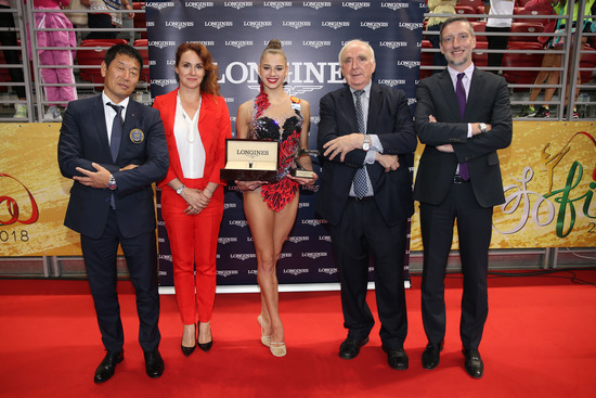 Longines Gymnastics Event: The Longines Prize for Elegance awarded to Aleksandra Soldatova at the 36th Rhythmic Gymnastics World Championships in Sofia 6
