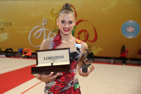 Longines Gymnastics Event: The Longines Prize for Elegance awarded to Aleksandra Soldatova at the 36th Rhythmic Gymnastics World Championships in Sofia 5