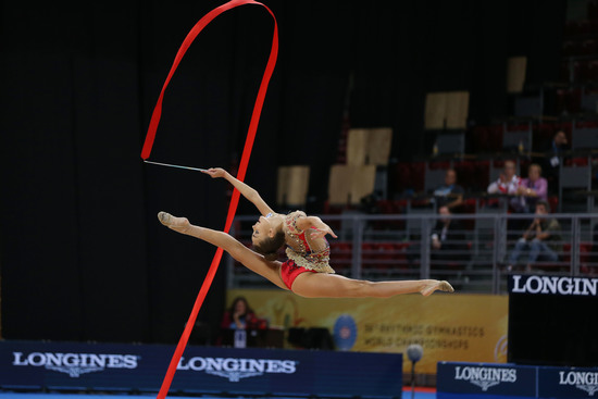 Longines Gymnastics Event: The Longines Prize for Elegance awarded to Aleksandra Soldatova at the 36th Rhythmic Gymnastics World Championships in Sofia 3