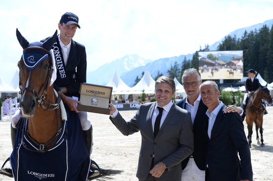 "Longines Show Jumping Event: Wouter Devos (BEL) is the winner of the ""Longines Grand Prix"" in Crans-Montana 1"