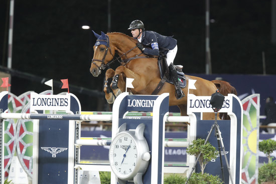 Longines Show Jumping Event: Ben Maher claimed stunning victory at the 2018 Longines Global Champions Tour of Doha 2