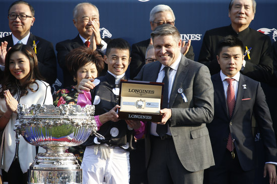 Longines Flat Racing Event: Longines welcomes its Ambassador of Elegance Eddie Peng at the 2017 Longines Hong Kong International Races 4
