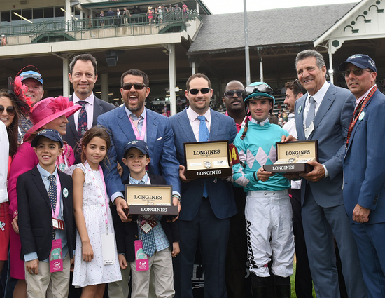 Longines Flat Racing Event: Monomoy Girl's Longines Kentucky Oaks Victory celebrated  at Churchill Downs  2
