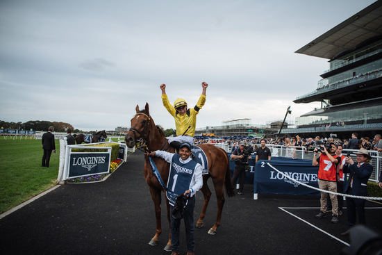 Longines Flat Racing Event: Longines timed the victory of Addeybb in the Longines Queen Elizabeth Stakes 2