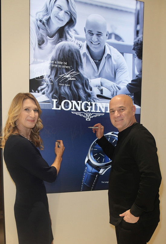 Longines Corporate Event: Andre Agassi and Stefanie Graf inaugurate Longines' new sales corner in Las Vegas  2