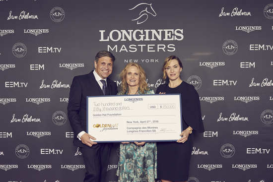 Longines Corporate Event: Longines welcomes its Ambassador of Elegance Kate Winslet in New York for the conclusion of a common charity project for the benefit of the Golden Hat Foundation 2