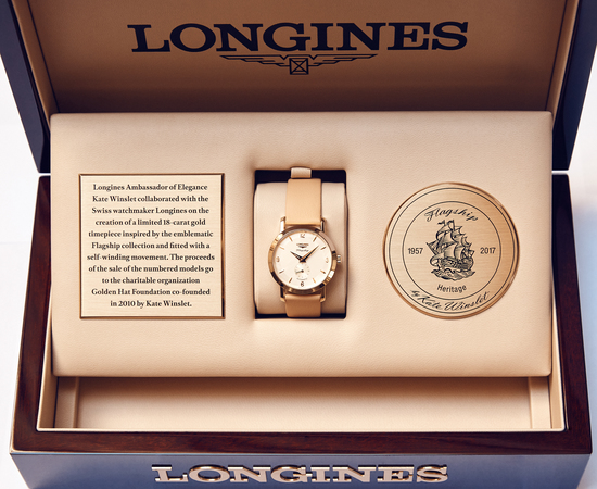 Longines Corporate Event: Longines welcomes its Ambassador of Elegance Kate Winslet in New York for the conclusion of a common charity project for the benefit of the Golden Hat Foundation 10