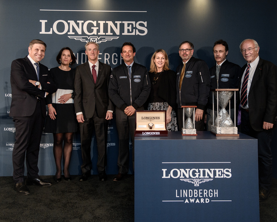 Longines Corporate Event: Erik Lindbergh, Grandson of Famed Aviator Charles Lindbergh, Receives the First Longines Lindbergh Award 2
