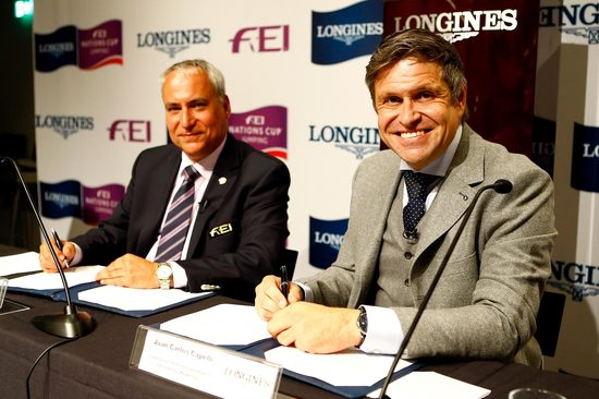 Longines Show Jumping Event: Longines signs long-term title partnership of FEI Nations Cup™ Jumping and extends global agreement as FEI Top Partner 1