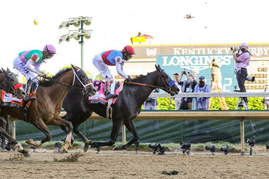 Longines Flat Racing Event: Longines timed the victory of Medina Spirit in the 147th Kentucky Derby 3