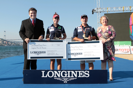 Longines Archery Event: The winners of the 2011 Longines Prize for Precision for archery 3