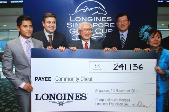 Longines Flat Racing Event: LONGINES SINGAPORE GOLD CUP 2011 raises S$241,136 for the Chaoyang School 13