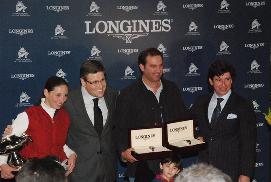 Longines Flat Racing Event: Jockey J.A. Ambrosio and Sarkozy win the Gran Premio Longines in Mexico 1