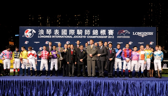 Longines Flat Racing Event: Joao Moreira, winner of the Longines International Jockeys' Championship with the presence of Aaron Kwok Fu Shing 2