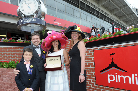 Longines Flat Racing Event: Longines awards luxury timepieces to owner, trainer and jockey of Preakness Stakes winner, Oxbow 5