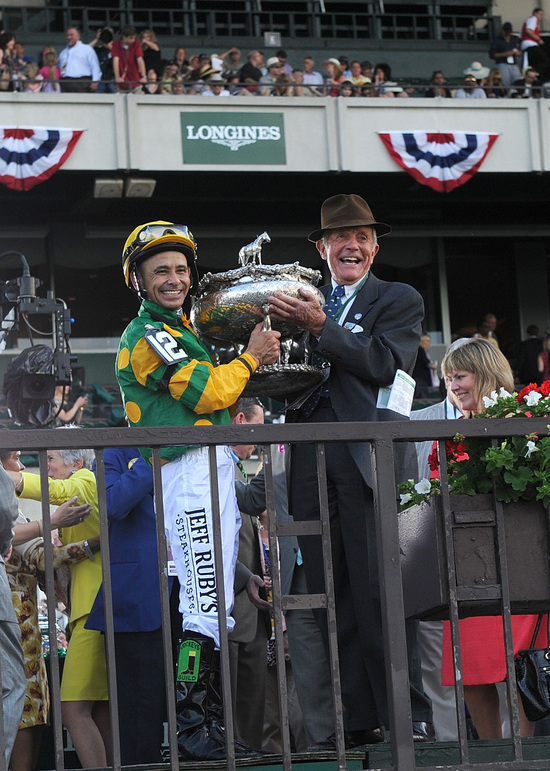 Longines Flat Racing Event: Longines awards elegant timepieces to owner, trainer and jockey of Belmont Stakes winner, Palace Malice 4